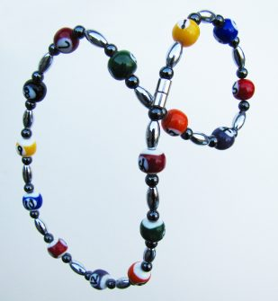 pool ball necklace